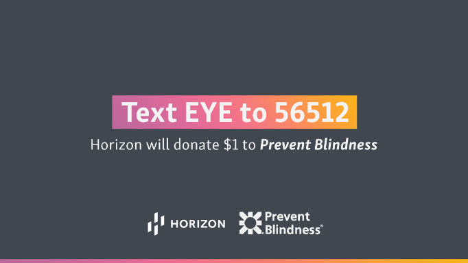 For World Sight Day Horizon And Prevent Blindness Are Calling On