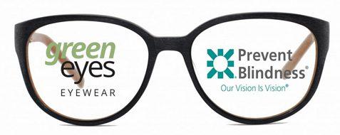 Green Eyes Eyewear Supports Prevent Blindness