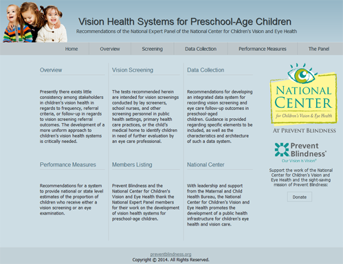 Vision Health Systems for Preschool-Age Children