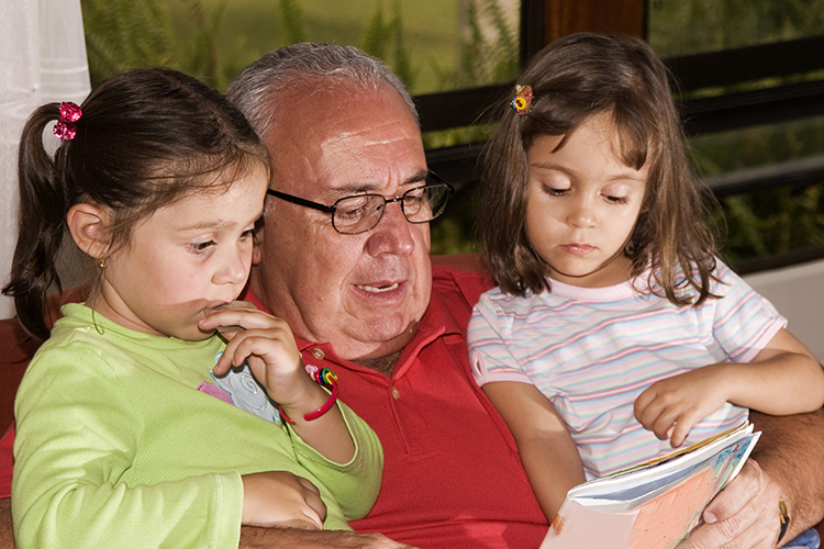 bigstock-Grandfather-And-Granddaughters-3128088