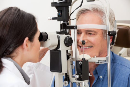 getting an eye exam
