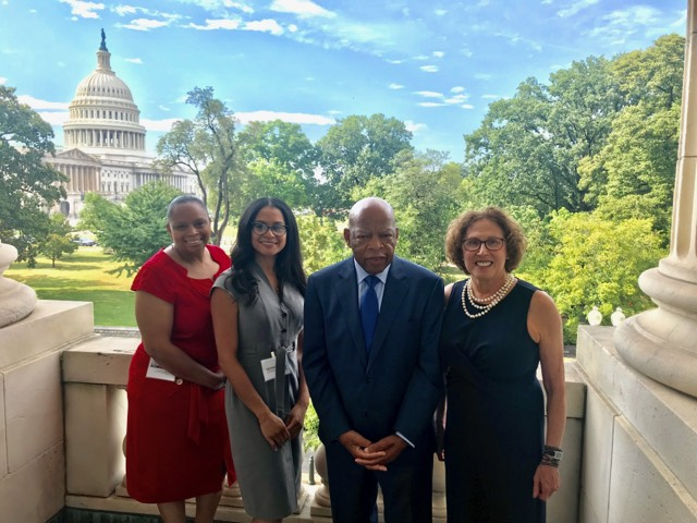 Eyes on Capitol Hill visit with Rep. John Lewis