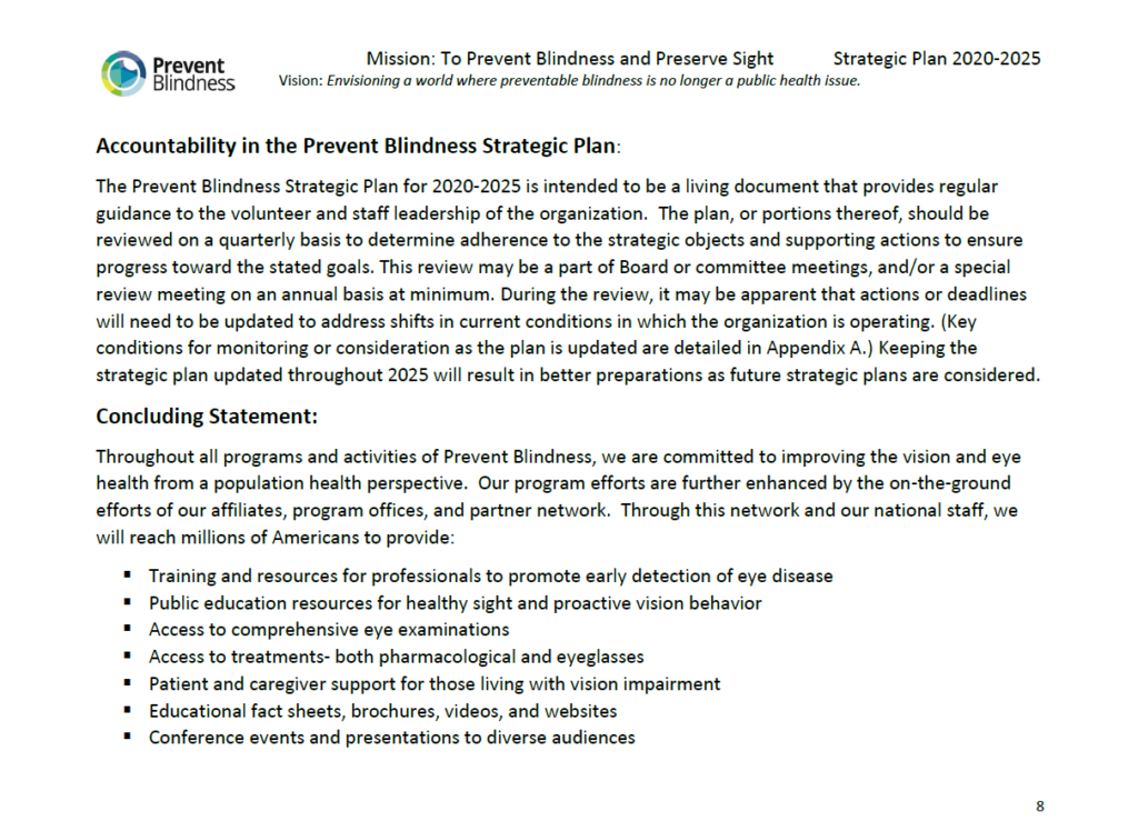 Strategic Plan page 8