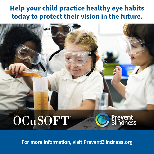 Help you child practice healthy eye habits today to protect their vision in the future.