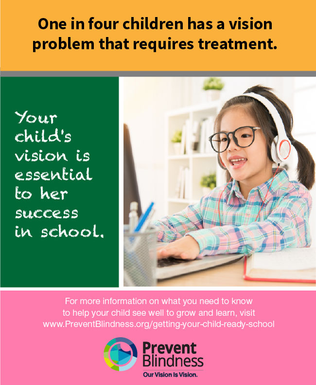Your Child's Vision is Essential to her Success in School