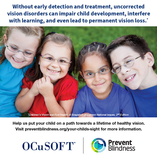 Without early detection and treatment, uncorrected vision disorders can impair child development, interfere with learning, and even lead to permanent vision loss.
