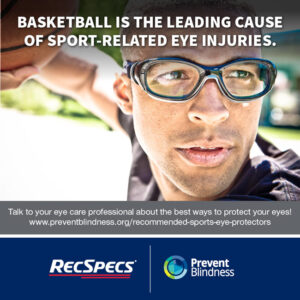 Basketball is the leading cause of sport-related eye injuries.