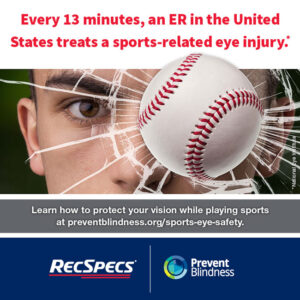 Every 13 minutes, an ER in the U.S. treats a sports-related eye injury.
