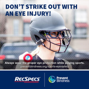 Don't strike out with an eye injury!