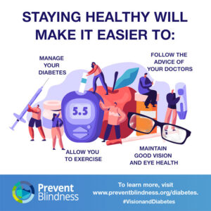 Staying Healthy Will Make it Easier to manage your diabetes.