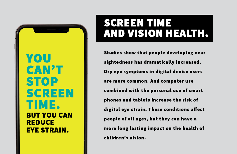 Reduce Screen Time. Reduce Eye Strain.