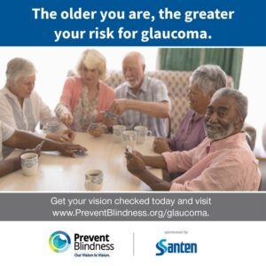 The older you are, the greater your risk for glaucoma
