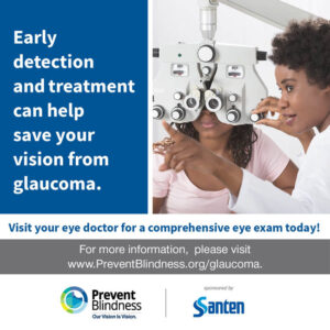 Early detection and treatment can help save your vision from glaucoma