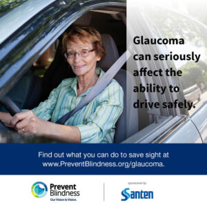 Glaucoma can seriously affect the ability to drive safely.