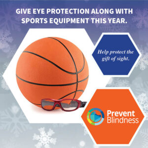Give eye protection along with sports equipment this year.