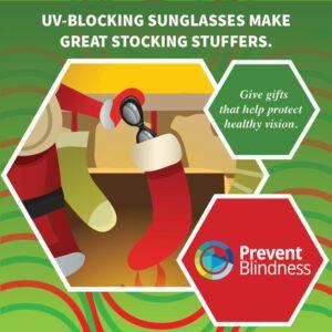 UV-blocking sunglasses make great stocking stuffers.