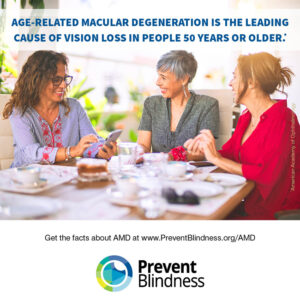 Age-related Macular Degeneration is the leading cause of vision loss in people 50 years old or older