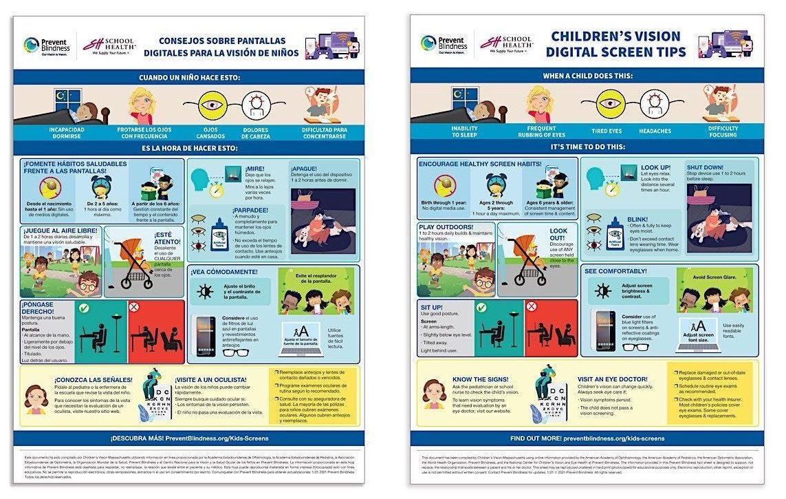 Childrens Vision Digital Screen Tips
