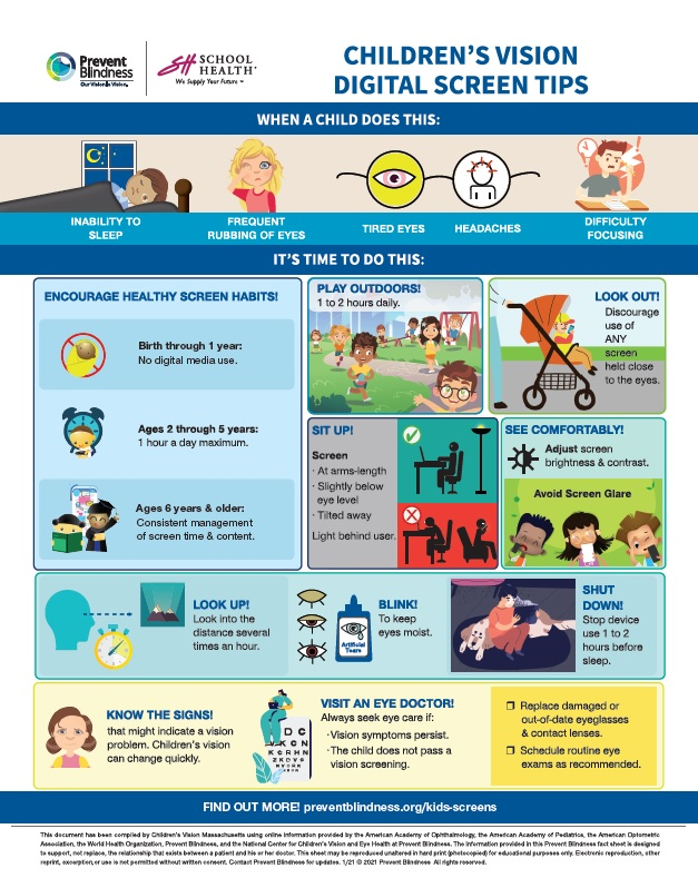 Chil.dren's Vision Digital Screen Tips