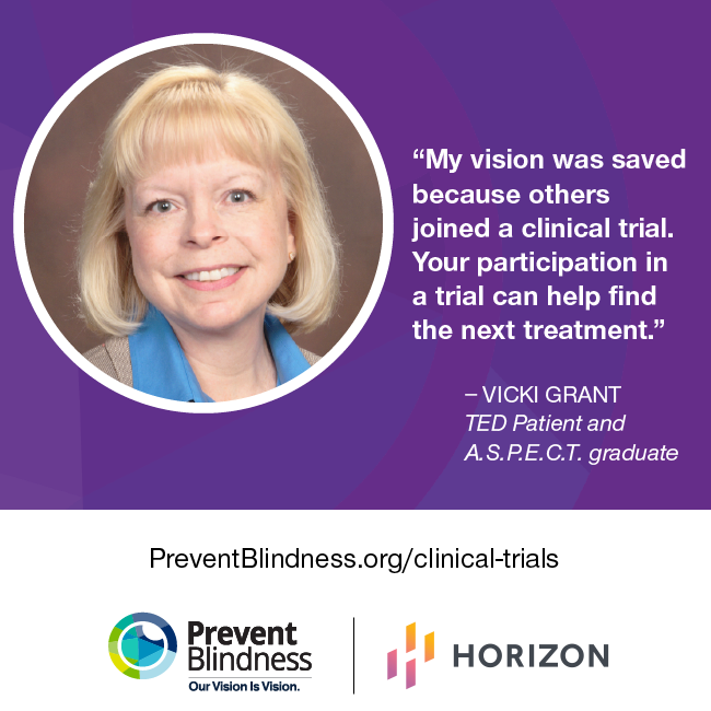 My vision was saved because others joined a clinical trial. Your participation in a trial can help find the next treatment.