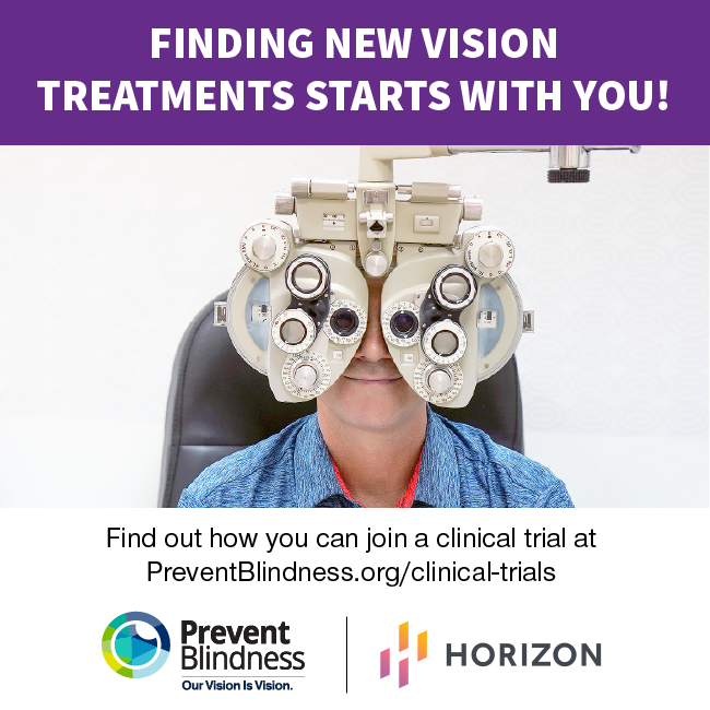 Finding New Vision Treatments Starts with You!