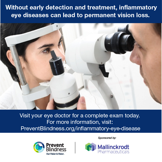 Without early detection and treatment, inflammatory eye diseases can lead to vision loss.