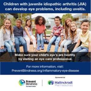 Children with juvenile idiopathic arthritis (JIA) can develop eye problems, including uveitis.