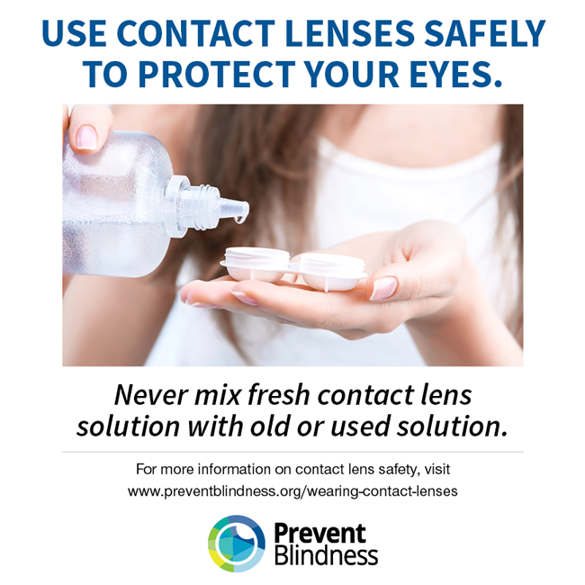 Use Contact Lenses Safely to Protect Your Eyes